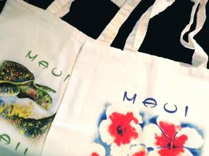 Watercolor on Tote Bags